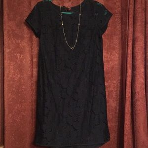Loft Outlet Navy cotton/nylon lace dress size4